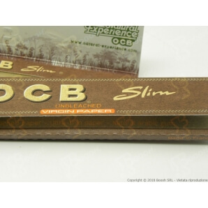 OCB CARTINE KS SLIM VIRGIN BROWN - 1 LIBRETTO DA 50 CARTINE 0,69 €