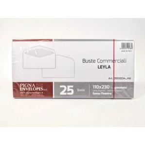 BUSTE BIANCHE COMMERCIALI DA LETTERA GOMMATE FORMATO 120x180mm CARTA 70 gr/m - CONFEZIONE DA 25 BUSTE PIGNA 2,95€