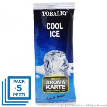 CARTE AROMATIZZATE PREMIUM TOBALIQ AROMA GHIACCIO ICE COOL - BLISTER SFUSI MONOUSO E SIGILLATI SINGOLARMENTE