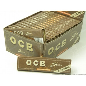 OCB CARTINE KS SLIM VIRGIN BROWN + FILTRI IN CARTA - CONFEZIONE DA 32 LIBRETTI PER 32 CARTINE 26,99 €
