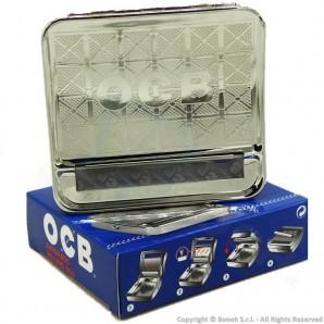 OCB ROLLATORE PER CARTINE CORTE - MACCHINETTA BOX ROLLING TABACCHIERA IN METALLO | TAPPETO SILICONE REGOLABILE 6mm e 8mm 6,29€