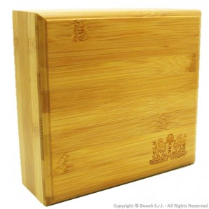 SPLIFF BOX AMSTERDAM LION XXX - STAZIONE DI ROLLAGGIO IN LEGNO BAMBOO CON CHIUSURA MAGNETICA | IDEA REGALO 22,21€