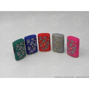 ATOMIC ACCENDINI TURBO ANTIVENTO JET FLAME ''LA CATRINA'' TESCHI COLORATI - 1 BOX DA 25 ACCENDINI 44,53 €