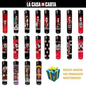 ACCENDINI CASA DI CARTA - SET COMPLETO CON 20 ACCENDINI SERIE TV ORIGINALE NETFLIX + REGALO MISTERIOSO 11,95€