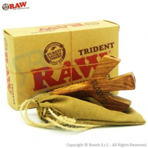RAW WOODEN TRIDENT : FILTRO E SUPPORTO IN LEGNO - CIGARETTE HOLDER | IDEA REGALO 15,54 €