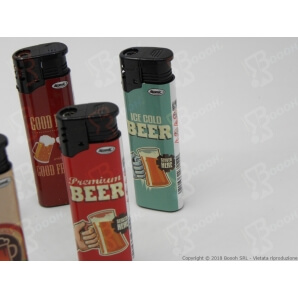 "ACCENDINO FIAMMA TURBO ANTIVENTO RICARICABILE ""BEER"" - 1 ACCENDINO 0,89 €"