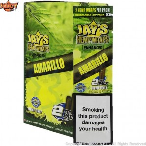 JUICY JAY'S HEMP WRAP AMARILLO AROMATIZZATE - BLISTER DA 2 BLUNT IN CANAPA 2,21 €