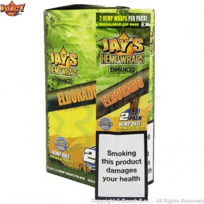 JUICY JAY'S HEMP WRAPS ELDORADO AROMATIZZATE - BLISTER DA 2 BLUNT IN CANAPA 2,21 €