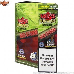 JUICY JAY'S HEMP WRAPS RED STORM AROMATIZZATE - BLISTER DA 2 BLUNT IN CANAPA 2,21 €