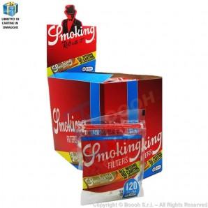 SMOKING FILTRI SLIM 6MM LISCI + CARTINA SMOKING CORTA ORANGE IN OMAGGIO - BOX DA 30 BUSTINE DA 120 FILTRI + 60 CARTINE 57,99€