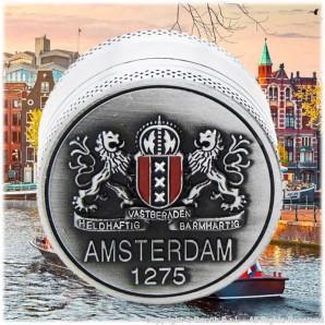 GRINDER AMSTERDAM 1275 ORIGINAL XXX - TRITATABACCO METALLICO COLOR ARGENTO E DIVISIBILE IN 3 PARTI | IDEA REGALO FUMATORE 8,56€