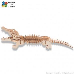 PUZZLE 3D IN LEGNO A FORMA DI COCCODRILO - IDEA REGALO PER ADULTI E BAMBINI 6,65€