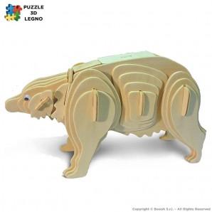 SCHELETRO PUZZLE 3D IN LEGNO A FORMA DI ORSO POLARE - IDEA REGALO PER ADULTI E BAMBINI 6,65€