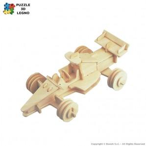PUZZLE 3D IN LEGNO A FORMA DI AUTO FORMULA 1 RACING CAR - IDEA REGALO PER ADULTI E BAMBINI 6,65€