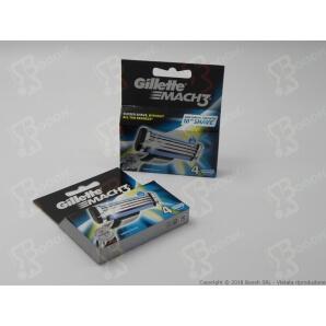 GILLETTE RICAMBI MACH 3 RICARICA PER RASOI MACH 3 - 1 BLISTER DA 4 TESTINE 7,49€