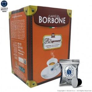 CAFFE' BORBONE MISCELA NERA QUALITA' BLACK - COMPATIBILI SISTEMI NESPRESSO | 50 CAPSULE RESPRESSO 8,99€