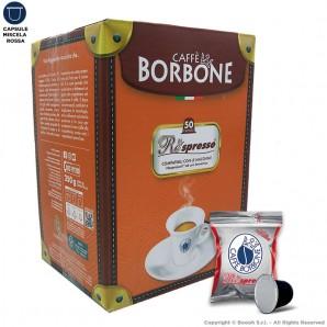 CAFFE' BORBONE MISCELA ROSSA QUALITA' RED - COMPATIBILI SISTEMI NESPRESSO | 50 CAPSULE RESPRESSO 9,49€