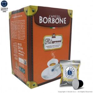 CAFFE' BORBONE MISCELA ORO QUALITA' PREMIUM - COMPATIBILI SISTEMI NESPRESSO | 50 CAPSULE RESPRESSO 11,49€