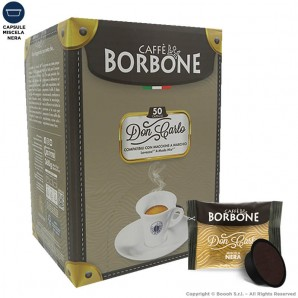 CAFFE' BORBONE QUALITA' MISCELA NERA DON CARLO - COMPATIBILI SISTEMI LAVAZZA MODO MIO   50 CAPSULE 8,99€