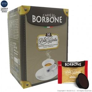 CAFFE' BORBONE QUALITA' ROSSA MISCELA RED DON CARLO ROSSA - COMPATIBILI SISTEMI LAVAZZA MODO MIO | 50 CAPSULE 9,49€