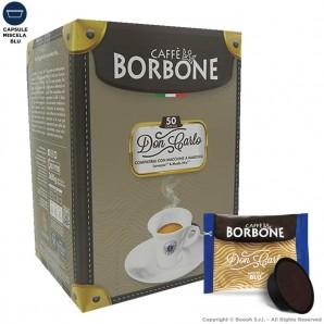 CAFFE' BORBONE QUALITA' BLU DON CARLO - COMPATIBILI SISTEMI LAVAZZA MODO MIO   50 CAPSULE 10,49€