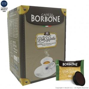 CAFFE' BORBONE QUALITA' DEK MISCELA DECAFFEINATO DON CARLO VERDE - COMPATIBILI SISTEMI LAVAZZA MODO MIO | 50 CAPSULE 11,49€