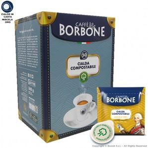 CAFFE' BORBONE QUALITA' ORO CIALDE IN CARTA GOLD - CONFEZIONE DA 50 CIALDE COMPOSTABILI ECOSOSTENIBILI ESE 44MM 9,99€