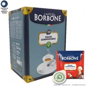 CAFFE' BORBONE QUALITA' ROSSA CIALDE IN CARTA RED - CONFEZIONE DA 50 CIALDE COMPOSTABILI ECOSOSTENIBILI 7,99€