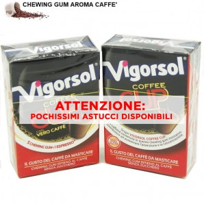 VIGORSOL COFFEE CUP CHEWING GUM - GOMME DA MASTICARE AL GUSTO DI CAFFE' | ASTUCCI SFUSI 1,99€