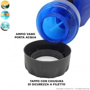VENTILATORE NEBULIZZATORE SPRAY + VENTOLA - CON BOTTIGLIA PER AMPIA CAPIENZA D'ACQUA   COLORE BLU 11,41€