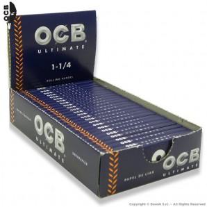 OCB ULTIMATE CARTINE CORTE 1¼ ULTRA LEGGERE E SOTTILI - BOX 25 LIBRETTI DA 50 CARTINE 28,59€