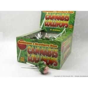 IDEA REGALO LECCA LECA LOLLIPOPS GUSTO FRAGOLA CANAPA CON AROMA CANNABIS (NO THC) - 5 LOLLIPOPS 3,23€