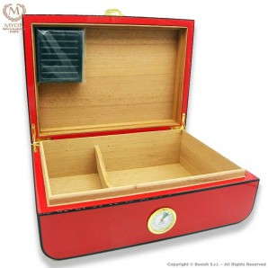 MYON PRESTIGE CIGARS HUMIDOR RED RACING EDITION CARBON LOOK DESIGN - IDEA REGALO FUMATORE 89,99€