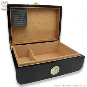 MYON PRESTIGE CIGARS HUMIDOR BLACK RACING EDITION CARBON LOOK DESIGN - IDEA REGALO FUMATORE 89,99€