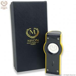 MYON ACCENDINO TURBO PRESTIGE QUADRUPLA FIAMMA JET ANTIVENTO - YELLOW EDITION CARBON LOOK 44,99€