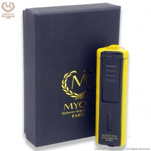 MYON ACCENDINO TURBO PRESTIGE TRIPLA FIAMMA JET ANTIVENTO - YELLOW EDITION CARBON LOOK 21,99€