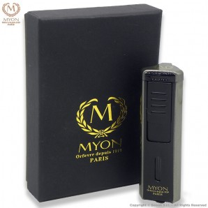 MYON ACCENDINO TURBO PRESTIGE TRIPLA FIAMMA JET ANTIVENTO - BLACK EDITION CARBON LOOK 21,99€