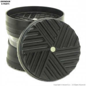 GRINDER BLACK EDITION CON SMERIGLIATRICE ELICOIDALE NUOVA GENERAZIONE - DIVISIBILE 5 PARTI CHIUSURA MAGNETICA 9,99€