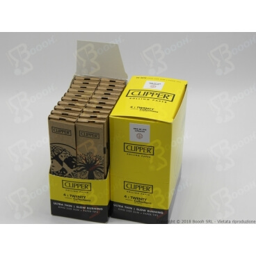 CLIPPER CARTINE LUNGHE KSS SIMPLE PURE TREE LIFE + FILTRI IN CARTA - BOX DA 20 LIBRETTI