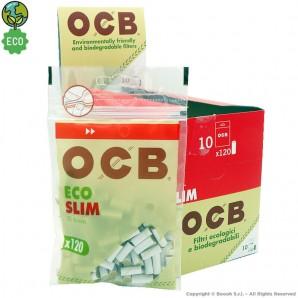 OCB FILTRI BIODEGRADABILI MISURA SLIM 6mm - BOX DA 10 BUSTE DA 120 FILTRINI ECOLOGICI 17,63€