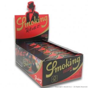 CARTINE SMOKING ROLLS DE LUXE KING SIZE SLIM LUNGHE - BOX DA 24 ROTOLI LUNGHI DI CARTINA DA 4 METRI 23,69€
