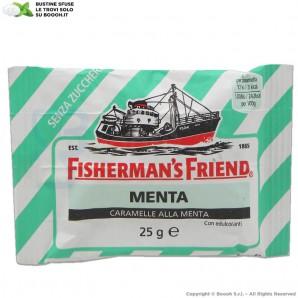 FISHERMAN'S FRIEND CARAMELLE GUSTO MENTA SENZA ZUCCHERO - BUSTINE BIANCHE E VERDI SFUSE 1,49€