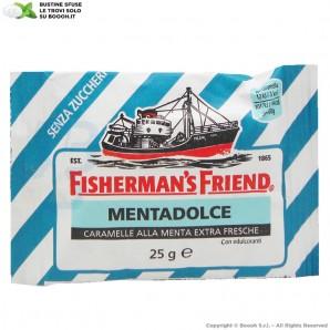 FISHERMAN'S FRIEND CARAMELLE GUSTO MENTA DOLCE SENZA ZUCCHERO - BUSTINE SFUSE 1,49€