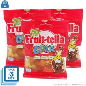 CARAMMELLE GOMMOSE BOTTIGLIETTE GUSTO COLA by FRUITTELLA - 3 BUSTINE DA 90gr | SENZA GLUTINE 4,55€