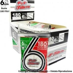 POP FILTERS BAG FILTRI LISCI 6mm SLIM - BOX DA 20 BUSTINE DA 180 FILTRINI 36,08€