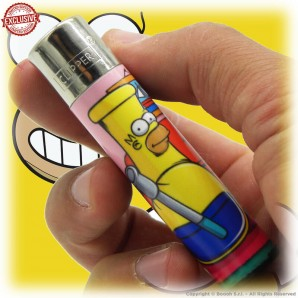 ACCENDINO CLIPPER HOMERBONG IN THE STONED SIMPBONG FAMILY EXCLUSIVE&LIMITED EDITION - SINGOLO PEZZO 5,54€