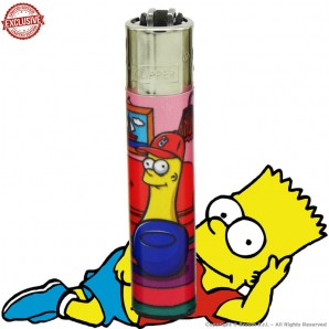 ACCENDINO CLIPPER BARTPIPE IN THE STONED SIMPBONG FAMILY EXCLUSIVE&LIMITED EDITION - SINGOLO PEZZO 5,54€