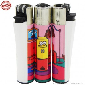 ACCENDINO CLIPPER LISAPEN IN THE STONED SIMPBONG FAMILY EXCLUSIVE&LIMITED EDITION - SINGOLO PEZZO 5,54€