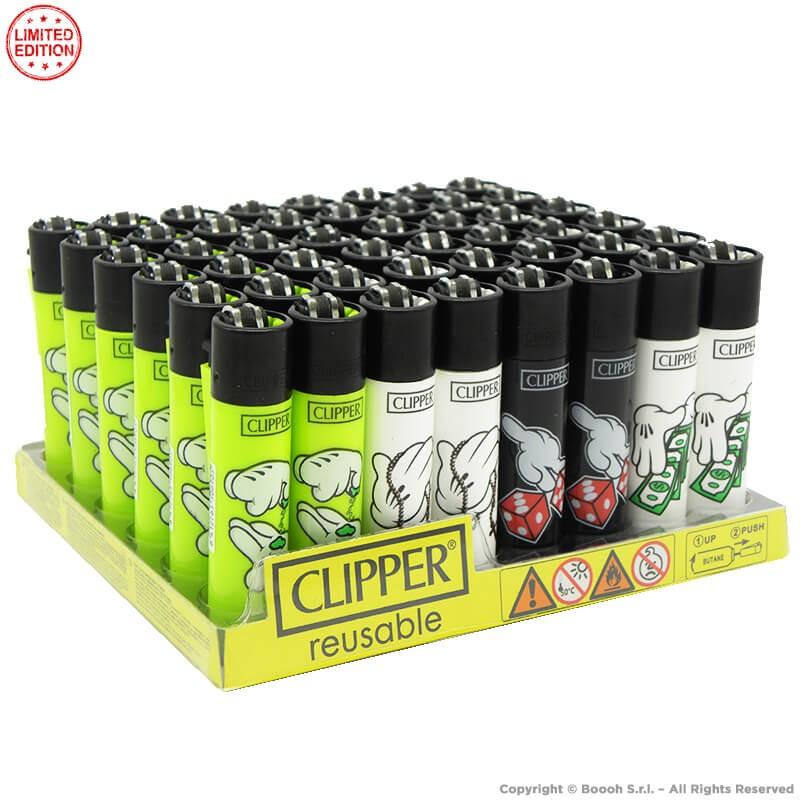 ACCENDINI CLIPPER MAGIC MICKY HANDS PREMIUM LIMITED EDITION   BOX DA 48 PEZZI LARGE E RICARICABILI 45,99€
