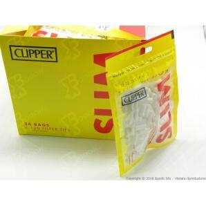 CLIPPER FILTRI LISCI SLIM 6MM - 1 BUSTINA DA 120 FILTRINI IN SPUGNA 0,63€